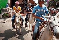 Boys on donkeys in El Quelite, Sinaloa, Mexico. Aromas y Sabores with Chef Patricia Quintana