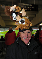 A fan sports a Kiwi-Lions hat during the 2017 DHL Lions Series rugby union 3rd test match between the NZ All Blacks and British & Irish Lions at Eden Park in Auckland, New Zealand on Saturday, 8 July 2017. Photo: Dave Lintott / lintottphoto.co.nz