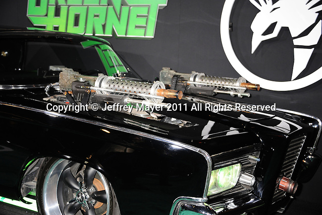 """HOLLYWOOD, CA - January 10: Green Hornet's 1969 Chrysler Imperial arrives at """"The Green Hornet 3D"""" Los Angeles Premiere held at Grauman's Chinese Theatre on January 10, 2011 in Hollywood, California."""