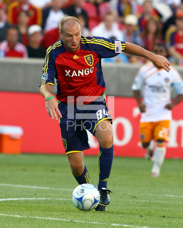 Clint Mathis in the Real Salt Lake v Houston 0-0 draw win at Rio Tinto Stadium in Sandy, Utah on August 15, 2009
