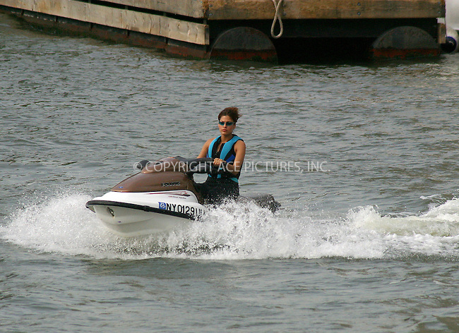 Will Smith and Eva Mendes must have enjoyed this day of filming on the set of 'Last First Kiss' at North Cove Marine. Actors were seen riding jet ski for several hours, which could be quite a pleasant experience on a hot, steamy day in New York. June 16, 2004. Please byline: BRIAN FLANNERY/ACE Pictures.   ..  *** ***..All Celebrity Entertainment, Inc:  ..contact: Alecsey Boldeskul (646) 267-6913 ..Philip Vaughan (646) 769-0430..e-mail: info@nyphotopress.com