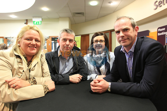Shirley McCourt Brian lenahan carrion a Stuart Killeen at the AIB business seminar held in the AIB branch in Dyer Street..Picture Fran Caffrey www.newsfile.ie..