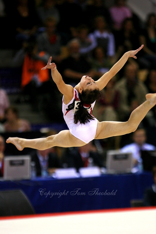 Oct 19, 2006; Aarhus, Denmark; Vanessa Ferrari of Italy performs on floor exercise during ALL-Around final competition at 2006 World Championships Artistic Gymnastics.