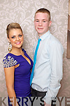 Pictured at the Kerins ORahillys social in the Earl of Desmond Hotel on Saturday night, from left: McKenzie Keane and Ronan Quill.