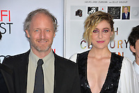 LOS ANGELES, CA. November 16, 2016: Director Mike Mills &amp; actress Greta Gerwig at the gala screening for &quot;20th Century Women&quot;, part of the AFI FEST 2016, at the TCL Chinese Theatre, Hollywood.<br /> Picture: Paul Smith/Featureflash/SilverHub 0208 004 5359/ 07711 972644 Editors@silverhubmedia.com
