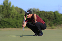 Sebastian Heisele (GER) on the 13th green during Round 3 of the Challenge Tour Grand Final 2019 at Club de Golf Alcanada, Port d'Alcúdia, Mallorca, Spain on Saturday 9th November 2019.<br /> Picture:  Thos Caffrey / Golffile<br /> <br /> All photo usage must carry mandatory copyright credit (© Golffile | Thos Caffrey)