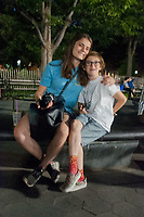 Eliza and Max, Washington Square Park, Manhattan, New York, US
