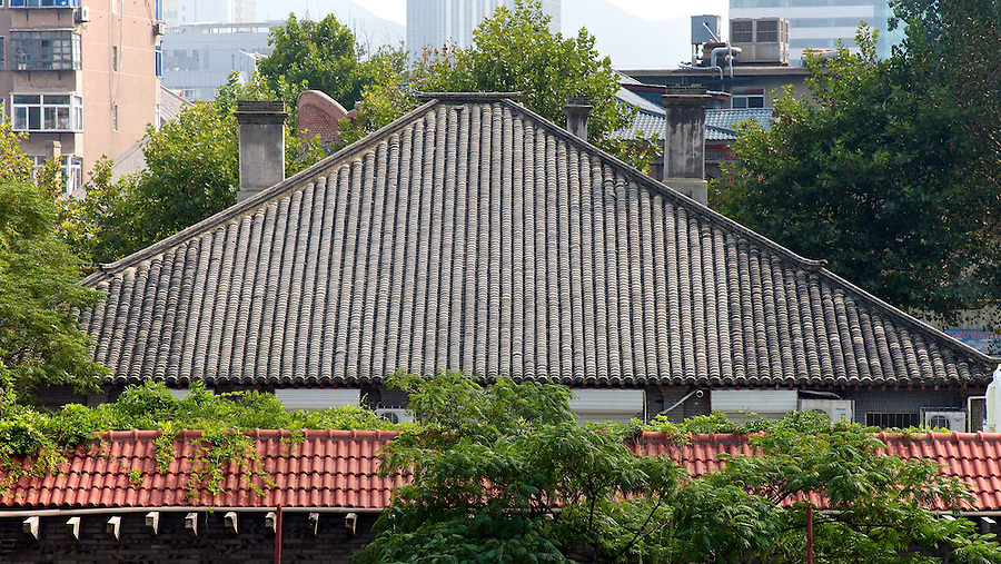 The Roof Of SOCONY/Mobil's Former Office Building In Yantai (Chefoo).