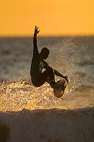 Dave Neilsen (AUS)..Cottesloe Beach, Perth, Western Australia, Saturday August 18 2001..A round of  The Quiksilver Airshow International Series, with $20,000 in prize-money was run today at Cottesloe Beach. The Quiksilver Airshow is the richest and most spectacular surfing event to be staged at a Perth Beach. The contest is based around the futuristic moves of aerial surfing, where each surfer  is judged on their best two aerial manoeuvres in each heat. (Photo: joliphotos.com)