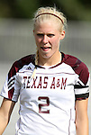 09 September 2011: Texas A&M's Rachel Lenz. The Duke University Blue Devils defeated the Texas A&M Aggies 7-2 at Koskinen Stadium in Durham, North Carolina in an NCAA Division I Women's Soccer game.