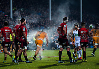 Agustin Creevy gets up from a scrum during the 2019 Super Rugby final between the Crusaders and Jaguares at Orangetheory Stadium in Christchurch, New Zealand on Saturday, 6 July 2019. Photo: Dave Lintott / lintottphoto.co.nz