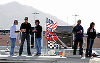 Feb. 27, 2009; Las Vegas, NV, USA; NASCAR Sprint Cup Series fans watch from motorhomes during practice for the Shelby 427 at Las Vegas Motor Speedway. Mandatory Credit: Mark J. Rebilas-