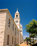 BERMUDA, low angle view of Clock Tower Mall by the Royal Navy Dockyard