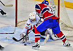 13 December 2008: Washington Capitals' goaltender Simeon Varlamov from Russia in action against the Montreal Canadiens in the second period at the Bell Centre in Montreal, Quebec, Canada. ***** Editorial Sales Only ***** Mandatory Photo Credit: Ed Wolfstein Photo