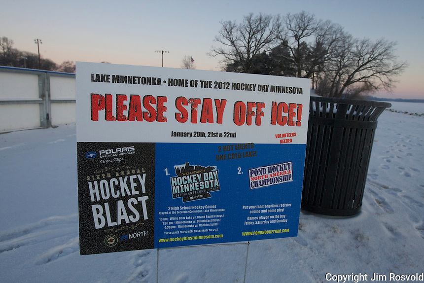 21 Jan 12: Scenes from Hockey Day Minnesota 2012.