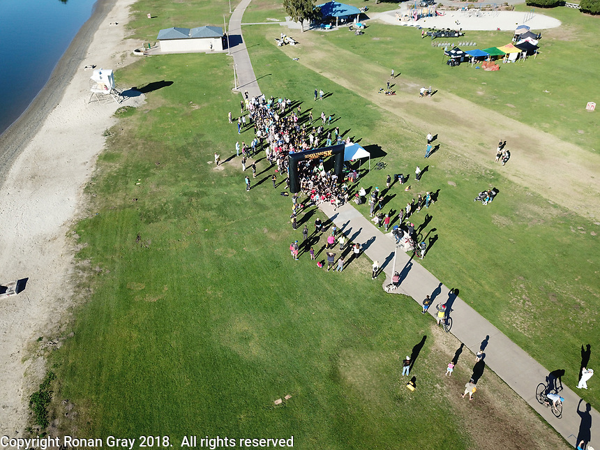 DeAnza Cove, Mission Bay, San Diego CA, USA.  Sunday, January 28 2018:  Friends of Pacific Beach Schools (FOPBS) School Yard Dash.  The 4th annual event comprised of a 1-mile run for elementary school kids followed by a 5K run for all ages.  Besides parents, teachers, staff, students and siblings competitors from all over San Diego and abroad ran in the event.  All six schools in the Mission Bay cluster were well represented at the event.  Music was provided by the Mission Bay High School Mamba Band.