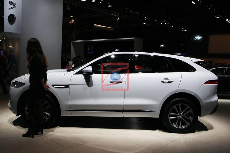 Automobile Barcelona 2017.<br /> Stand Jaguar.