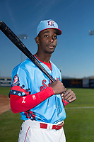 Spokane Indians outfielder Sherten Apostel (38) poses for a photo before a Northwest League game against the Vancouver Canadians at Avista Stadium on September 2, 2018 in Spokane, Washington. The Spokane Indians defeated the Vancouver Canadians by a score of 3-1. (Zachary Lucy/Four Seam Images)
