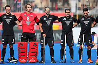 National anthem during the Pro League Hockey match between the Blacksticks men and Great Britain, National Hockey Arena, Auckland, New Zealand, Saturday 8 February 2020. Photo: Simon Watts/www.bwmedia.co.nz