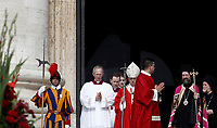 Papa Francesco (c) arriva in Piazza San Pietro per celebrare la Messa della Solennità dei Santi Pietro e Paolo, Citta' del Vaticano, 29 giugno, 2017.<br /> Pope Francis (c) arrives to celebrate a mass for the imposition of the Pallium upon the new metropolitan archbishops and the solemnity of Saints Peter and Paul in St. Peter's Square at the Vatican, on June 29, 2017.<br /> UPDATE IMAGES PRESS/Isabella Bonotto<br /> <br /> STRICTLY ONLY FOR EDITORIAL USE