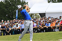 Paul Casey (ENG) tees off the 1st tee to start Saturday's Round 3 of the 2017 PGA Championship held at Quail Hollow Golf Club, Charlotte, North Carolina, USA. 12th August 2017.<br /> Picture: Eoin Clarke | Golffile<br /> <br /> <br /> All photos usage must carry mandatory copyright credit (&copy; Golffile | Eoin Clarke)