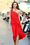Daniela walks runway in a Douglas Hannant Resort 2012 outfit, on the USS Intrepid, June 7, 2011.