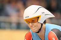 Australia's Anna Meares in the Women 500m Time Trial at the 2014 Oceania Track Championships, Sit Zero Fees Velodrome, Invercargill, New Zealand, Friday, November 19, 2013. Photo: Dianne Manson / NINZ