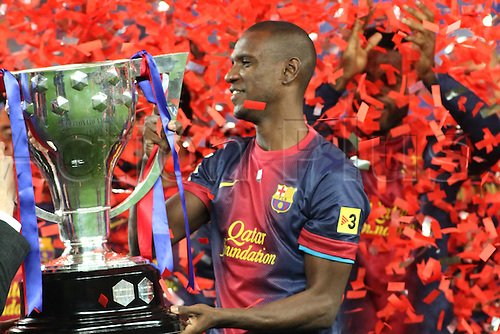 19.05.2013 Barcelona, Spain. Eric Abidal the during the celebration of the league championship 2012/13 at the Nou Camp