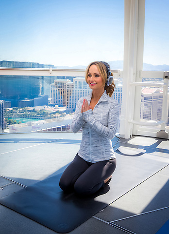 LAS VEGAS, NV - July 20, 2016: ***HOUSE COVERAGE*** Chef Giada De Laurentiis pictured as one of the first to experience Yoga in the Sky on The High Roller Observation Wheel at the LINQ Promenade in Las Vegas, NV July 20, 2016. Credit: Erik Kabik Photography/ MediaPunch