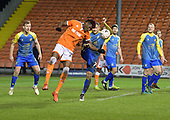 18/12/18 The Emirates FA Cup, 2nd Round Replay Blackpool v Solihull Moor<br /> <br /> Jamey Osbourne adjudged to have fouled Armand Gnanduillet