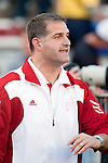 Wisconsin Badgers assistant coach Joe Rudolph during warmups prior to the NCAA college football game against the Ohio State Buckeyes on October 16, 2010 at Camp Randall Stadium in Madison, Wisconsin. The Badgers beat the Buckeyes 31-18. (Photo by David Stluka)