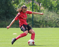 20200627 - TUBIZE , Belgium : Hannah Eurlings is in action during a training session of the Belgian Red Flames U17, on the 27 th of June 2020 in Tubize.  PHOTO SEVIL OKTEM| SPORTPIX.BE