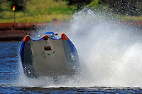Frame 6: #42 rides up and over the roostertail of leader R.J. West, (#93) during the final heat.   (SST-45 class)