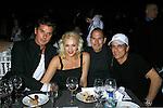 SANTA MONICA, CA. - October 15: Recording artists Gavin Rossdale, Gwen Stefani, Apple CEO Steve Jobs and Interscope President Jimmy Iovine attend the 2008 Spirit Of Life Award Dinner on October 15, 2008 in Santa Monica, California.
