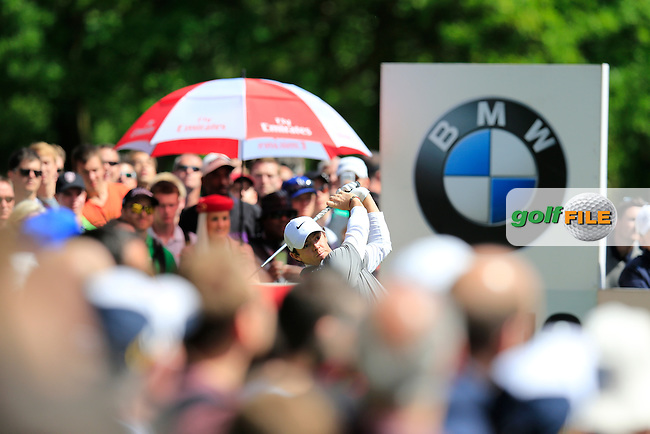 Rory McIlroy (NIR) during the final round of the BMW PGA championship, Wentworth Golf Club, Virginia Water, London.<br /> Picture: Fran Caffrey www.golffile.ie