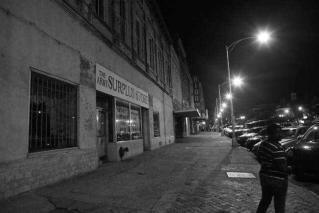 Third Street at night in Macon, Ga. Sept. 3, 2010.