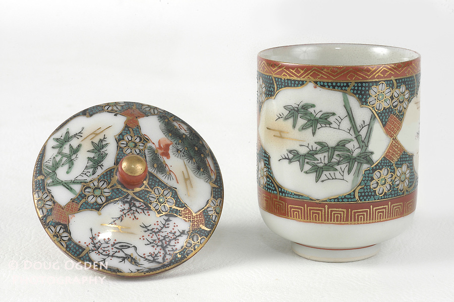 Antique china sugar bowl.  Images used in Estate valuation and auction program.
