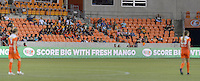Houston, TX - Friday April 29, 2016: LED of the Mango.org sign at BBVA Compass Stadium. The Houston Dash tied Sky Blue FC 0-0.
