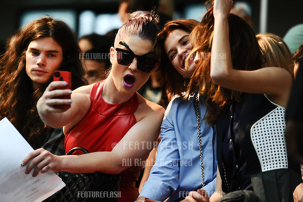 Kelly Osbourne, Pixie Geldof, Alexa Chung at the House of Holland catwalk show as part of London Fashion Week SS13, London. 15/09/2012 Picture by: Steve Vas / Featureflash