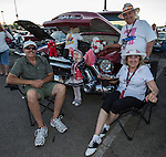 Aric, Don Sr and Isabel Peake from Reno with their 1956 GMC pick up during Hot August Nights at the Grand Sierra Resort on Tuesday, August 2, 2016.