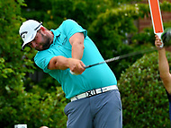 Potomac, MD - June 29, 2017: Marc Leishman tees of on the 18th hole during Round 1 of professional play at the Quicken Loans National Tournament at TPC Potomac at Avenel Farm in Potomac, MD, June 29, 2017.  (Photo by Don Baxter/Media Images International)