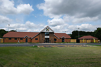 General view of the club house ahead of the first match at the new ground. Horsham vs Hartley Wintney, Friendly Match Football at Hop Oast on 13th July 2019