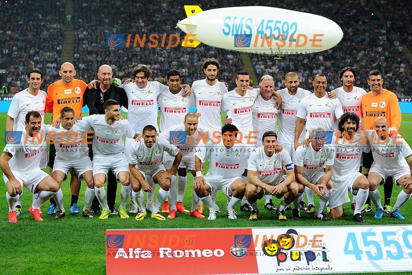 Milano 04-05-2015 Stadio Giuseppe Meazza. Charity foootball match Zanetti and Friends for Expo. Incontro di calcio per beneficienza Zanetti and Friends for Expo. <br /> Foto Giuseppe Celeste / Insidefoto