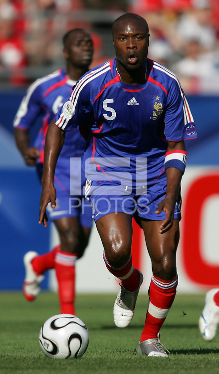 William Gallas of France. France and Switzerland played to a 0-0 tie in their FIFA World Cup Group G match at the Gottlieb-Daimler-Stadion, Stuttgart , Germany, on Tuesday, June 13, 2006.