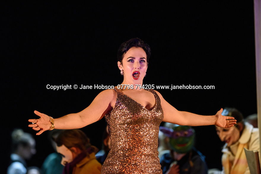 English National Opera presents, in a co-production with Dutch National Opera, Amsterdam, Puccini's LA BOHEME, at the London Coliseum. Picture shows: Rhian Lois (Musetta)