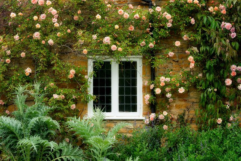 House and garden in Adlestrop, The Cotswols, Ennglandp
