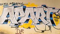 Graffiti along railroad right-of-way, Cleveland, Ohio