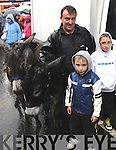 FAIR-LY WET: The scene in Kenmare for Fair Day on Monday.