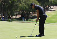 Thorbjorn Olesen (DEN) in action on the 6th during Round 2 Matchplay of the ISPS Handa World Super 6 Perth at Lake Karrinyup Country Club on the Sunday 11th February 2018.<br /> Picture:  Thos Caffrey / www.golffile.ie<br /> <br /> All photo usage must carry mandatory copyright credit (&copy; Golffile | Thos Caffrey)