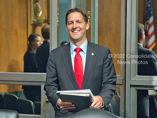 United States Senator Ben Sasse (Republican of Nebraska) arrives to listen to Christopher A. Wray testify on his nomination to be Director of the Federal Bureau of Investigation (FBI) before the US Senate Committee on the Judiciary on Capitol Hill in Washington, DC on Wednesday, July 12, 2017.  <br /> Credit: Ron Sachs / CNP<br /> (RESTRICTION: NO New York or New Jersey Newspapers or newspapers within a 75 mile radius of New York City)